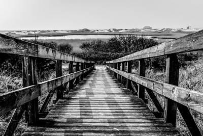 Photograph - Bridge To Nowhere Bw by Michael Damiani