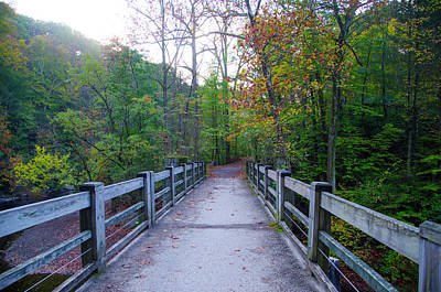 Creek Photograph - Bridge To Paradise - Wissahickon Valley by Bill Cannon