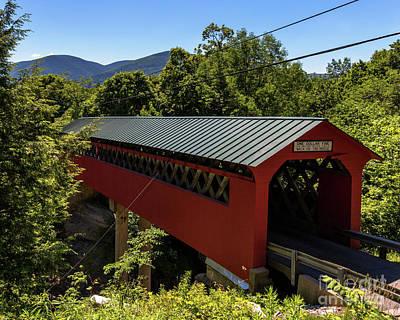 Bridge To The Mountains Art Print