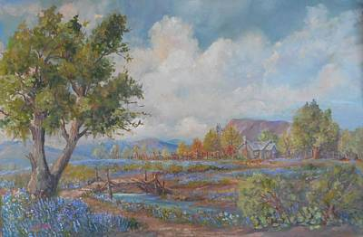 Lynn Burton Wall Art - Painting - Bridge To The Old Home Place by Lynn Burton