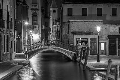 Photograph - Bridge To The Tower Venice Italy  by John McGraw