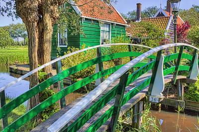 Small Bridges Digital Art - Bridge To The Village by Nadia Sanowar