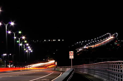 Photograph - Bridge Traffic At Night by Don Youngclaus