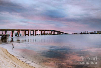 Photograph - Bridge Under The Sunset by Mechala Matthews