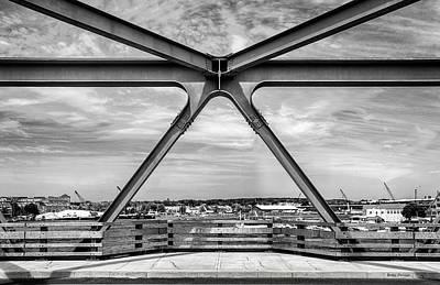Bridge View In Portsmouth Nh Art Print