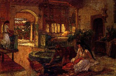 Orientalists Digital Art - Bridgeman Frederick Arthur Orientalist Interior by Frederick Arthur Bridgman