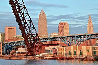 Photograph - Bridges And Towers Of Cleveland by Frozen in Time Fine Art Photography
