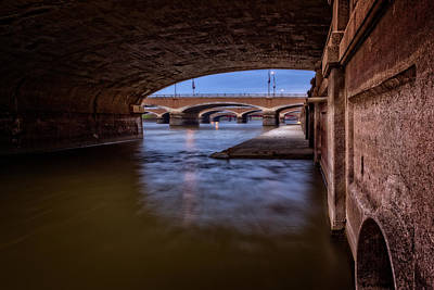 Photograph - Bridges At Des Moines Iowa by Ray Van Gundy