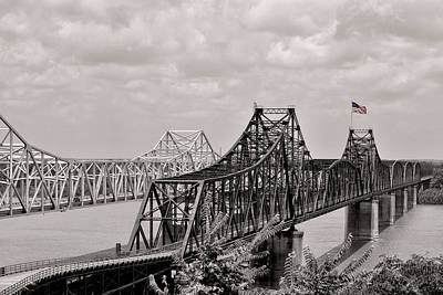 Mississippi River Photograph - Bridges At Vicksburg Mississippi by Don Spenner