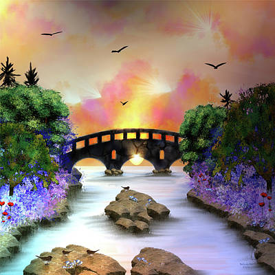 Digital Art - Bridges, Not Walls by Artful Oasis