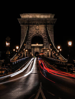 Art Print featuring the photograph Bridges Of Budapest - Chain Bridge by Jaroslaw Blaminsky