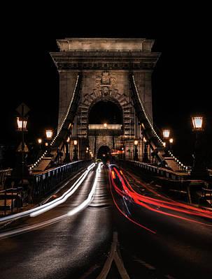 Photograph - Bridges Of Budapest - Chain Bridge by Jaroslaw Blaminsky