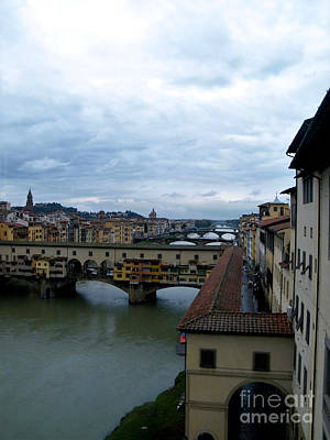 Photograph - Bridges Of Florence by Melinda Dare Benfield