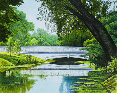 Painting - Bridges Of Forest Park IIi by Michael Frank