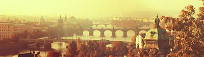 Photograph - Bridges Of Golden Prague. Autumn Panorama by Jenny Rainbow