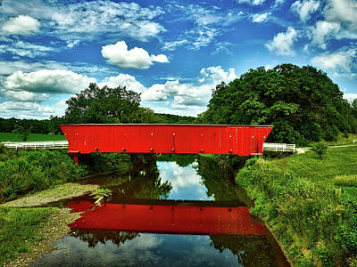 Hogback Bridge Photograph - Bridges Of Madison County by Mountain Dreams