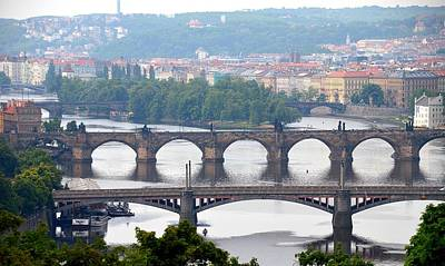 Photograph - Bridges Of Prague by Steven Richman