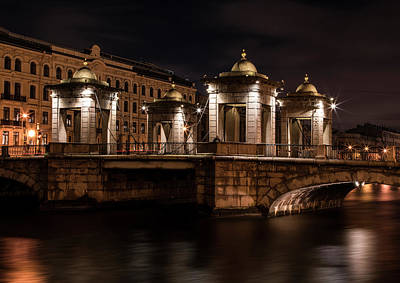 Photograph - Bridges Of Sankt Petersburg - Lomonosov Bridge by Jaroslaw Blaminsky
