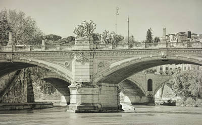 Photograph - Roman Bridges Of The River Tiber  by JAMART Photography