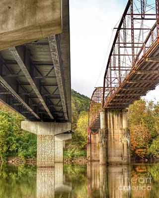 Photograph - Bridges - Old And New by Kerri Farley