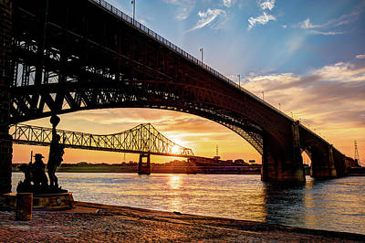 Photograph - Bridges Over The Mississippi by Gregory Ballos