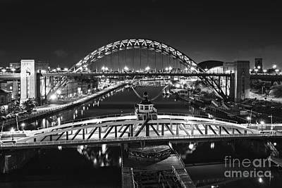 Bridges Over The River Tyne Art Print