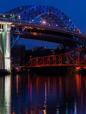 Photograph - Bridges Red White And Blue by Stewart Helberg