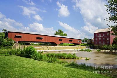 Photograph - Bridgeton Bridge And Mill by Jennifer White