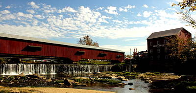 Bridgeton Covered Bridge And Mill By Earl's Photography Art Print by Earl  Eells a