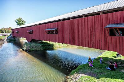 Bridgeton Covered Bridge Art Print