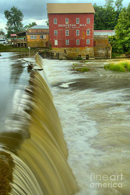 Photograph - Bridgeton Indiana Spillway by Adam Jewell