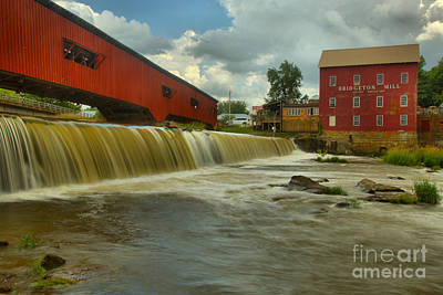 Photograph - Bridgeton Mill Spillway by Adam Jewell