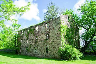 Bridgetown Photograph - Bridgetown Mill House Ruin - Bucks County Pa by Bill Cannon