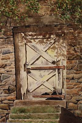 Gristmill Painting - Bridgetown Mill Ruins by Denise Harty