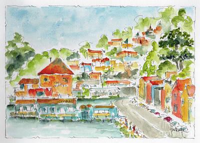 Painting - Bridgeway Boulevard Sausalito by Pat Katz