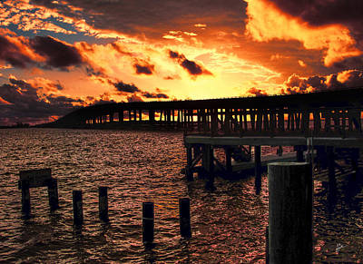 Photograph - Bridgeway Sunset by TK Goforth