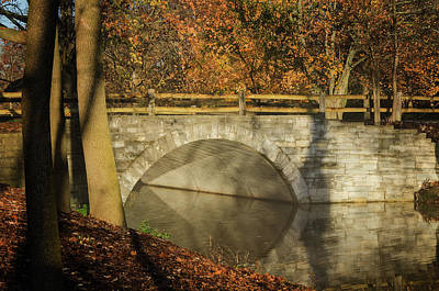 Photograph - Bridging Autumn by Susan McMenamin
