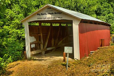 Photograph - Bridging Big Rocky Fork Creek by Adam Jewell