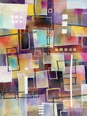Print featuring the painting Bridging Gaps 2 by Hailey E Herrera