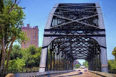 Digital Art - Bridging The Brazos In Downtown Waco by JC Findley