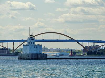 Photograph - Bridging The Milwaukee Harbor by Red Cross