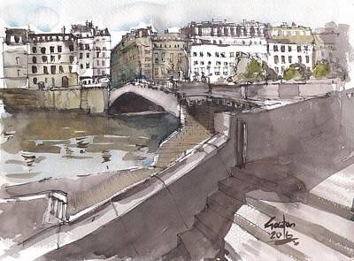 Painting - Bridging The Seine by Gaston McKenzie