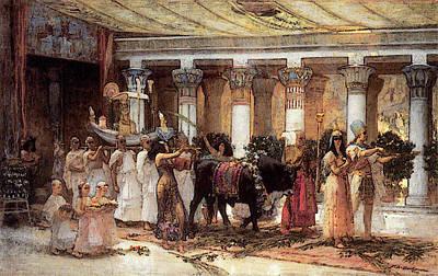 Procession Digital Art - Bridgman F The Procession Of The Sacred Bull Anubis by Frederick Arthur Bridgman