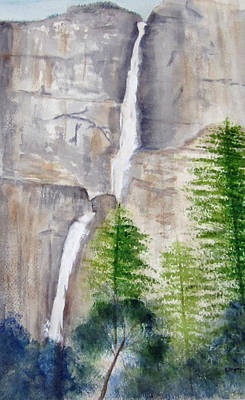 Painting - Bridal Veil Waterfall by Elvira Ingram