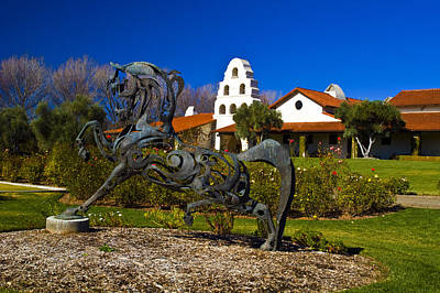 Photograph - Bridlewood Winery Sculpter by Gary Brandes