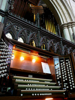 Photograph - Bridlington Priory Pipe Organ by Jenny Setchell