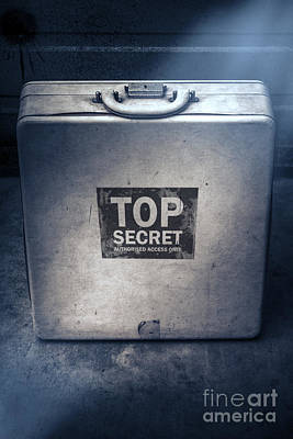 Brief Case Of Top Secret Espionage Art Print by Jorgo Photography - Wall Art Gallery