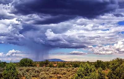 Brief Desert Shower Art Print by Carolyn Derstine