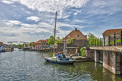Brielle Harbour Art Print by Frans Blok