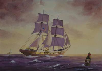 Brig Niagra On Lake Superior Original by Werner Pipkorn